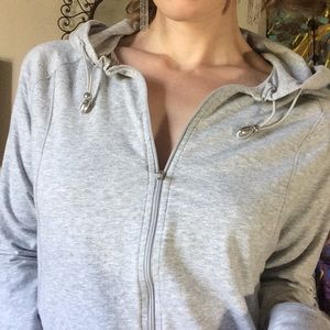 Danskin Now Super Soft Grey Athletic Zip Up Hoodie